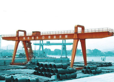 MG100t - 38m - 20m Box Girder Yard A-Shape Crane Gantry For machinery factory