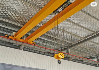 10 Ton Electric Bridge Double Girder Overhead Crane With High Efficiency A3-A5 Working Duty in Yellow