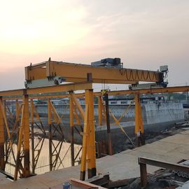 Iso Low Headroom Double Girder Overhead Travelling Crane For Construction Industry