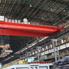 Steel Plant Double Beam Overhead Crane Controled By Crane Cabin For Steelworks