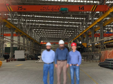 Capacity 7.5 Ton Span 20m Single Girder Eot Crane In Workshop With Remote Control